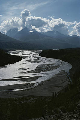 A Scenic View Of The Matanuska River Print by George F. Herben