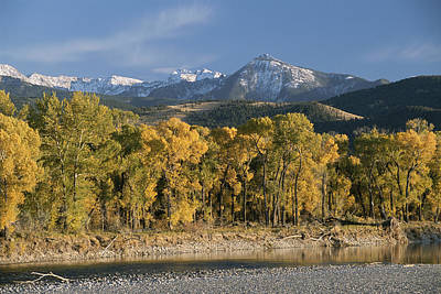 Absaroka Photograph - A Scenic View Of The Yellowstone River by Tom Murphy