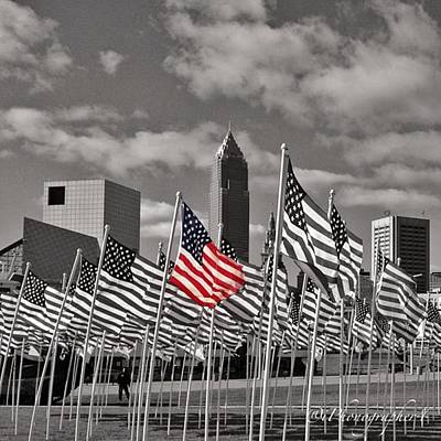 Iphone 4 Photograph - A Sea Of #flags During #marineweek by Pete Michaud