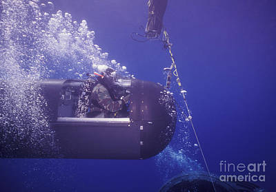 Photograph - A Seal Delivery Vehicle On Tether by Michael Wood