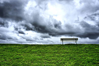 Art Print featuring the photograph A Seat With A View by Edward Myers