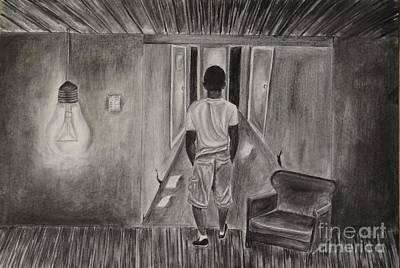 Lightbulb Drawing - A Second Chance by Kodjo Somana