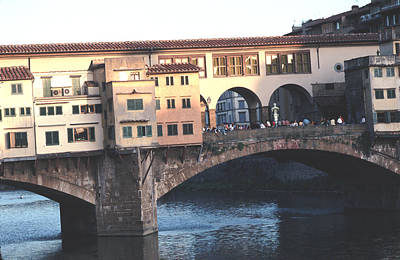 Unique Photograph - A Section Of The Ponte Vecchio Bridge Florence Italy by Tom Wurl