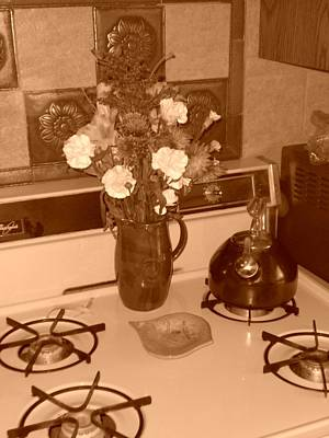 Photograph - A Sepia Kitchen by Emery Graham