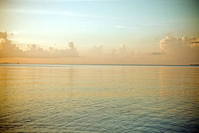 A Serene Landscape Of The Ocean And Sky At Sunrise Art Print by Adam Hester
