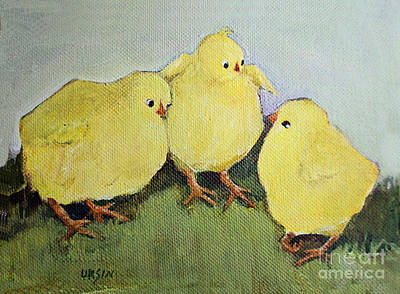 Painting - A Serious Discussion by Diane Ursin