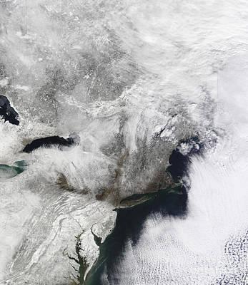 Snowmageddon Photograph - A Severe Winter Storm by Stocktrek Images