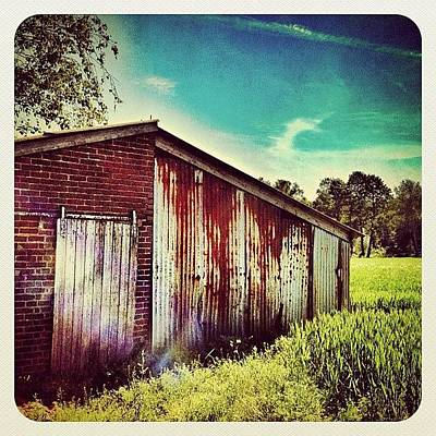 Dutch Photograph - A Shed In The Fields by Wilbert Claessens