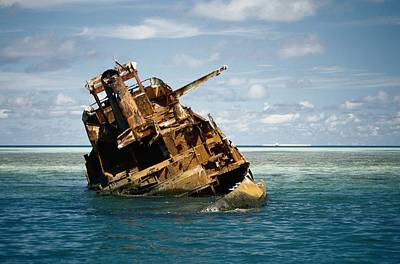 Etc. Photograph - A Shipwreck Of The Tubbataha Reef by Wolcott Henry