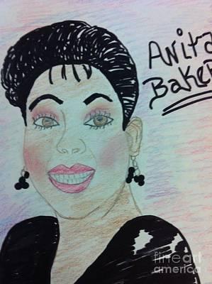 A Singer Anita Baker Art Print