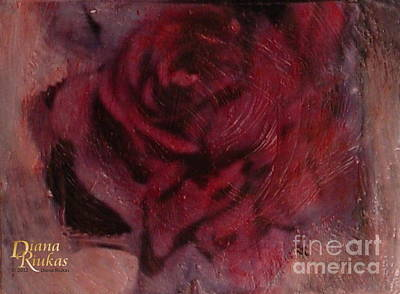 A Single Rose Art Print by Diana Riukas