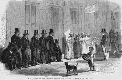 A Slave-pen At New Orleans Before Art Print by Photo Researchers