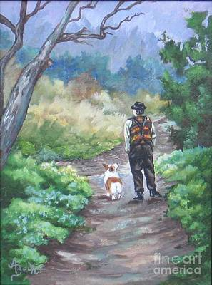 Painting - A Slow Walk In The Woods by Ann Becker