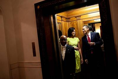 A Smiling President Obama Holds Art Print by Everett