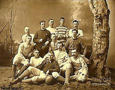 Painting - A Soccer Team In 1910 by Dwight Goss