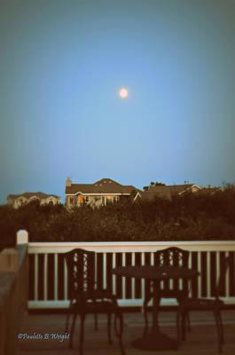 Photograph - A Soft Beach Moonrise by Paulette B Wright