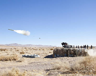 A Soldier Fires The Fim-92 Stinger Art Print by Stocktrek Images