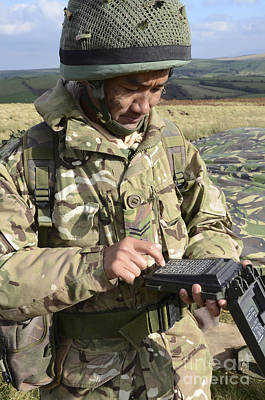 A Soldier Inputs The Firing Data Print by Andrew Chittock