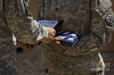 A Soldier Is Presented The American Art Print by Stocktrek Images