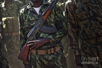 Ak-47 Photograph - A Soldier With The Armed Forces by Stocktrek Images