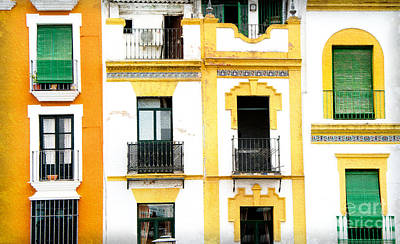 A Spanish Facade Art Print by Perry Van Munster