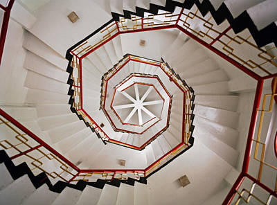 Organic Shapes Photograph - A Spiral Staircase In The Interior Of by Justin Guariglia
