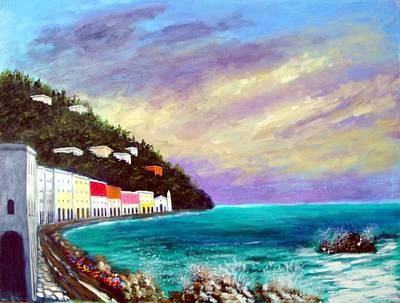 Tuscany Painting - A Splash Of The Mediterranean  by Larry Cirigliano