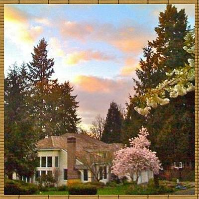 Apple Photograph - A Spring Evening - Lake Oswego Or by Anna Porter