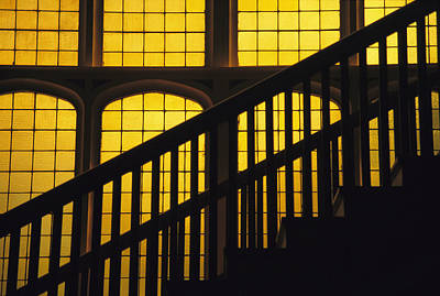 A Staircase In Silhouette Art Print by David Evans
