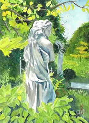 Art Print featuring the painting A Statue At The Wellers Carriage House -3 by Yoshiko Mishina