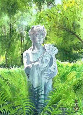 Art Print featuring the painting A Statue At The Wellers Carriage House -4 by Yoshiko Mishina