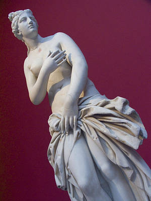 Pagan Nude Photograph - A Statue Of Aphrodite At The Acropolis by Richard Nowitz
