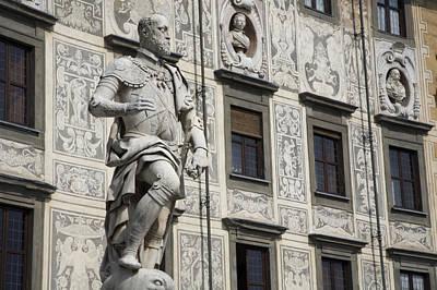 A Statue Of Cosimo I De Medici Print by Scott S. Warren