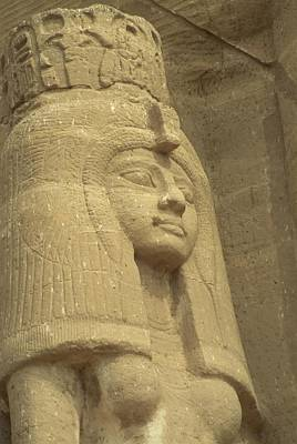 Etc. Egypt Photograph - A Statue Of Nefertari At The Entrance by Richard Nowitz