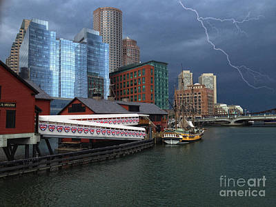 Photograph - A Storm In Boston by Gina Cormier