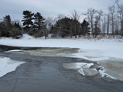 Photograph - A Stream In Ice by Kent Lorentzen