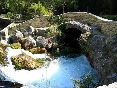A Stream In Provence Art Print