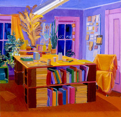 Painting - A Studio Space In 1977 by Nancy Griswold
