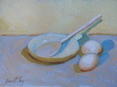 Painting - A Study In White by Diane McClary