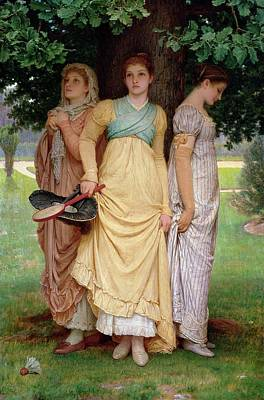 A Summer Shower Art Print by Charles Edward Perugini