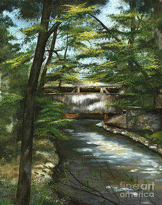 Painting - A Summer Walk Along The Creek  by Nancy Patterson