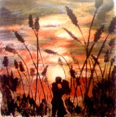 Pastel - A Sunset Kiss by Elizabeth Marks