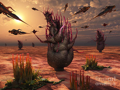 Grow Digital Art - A Swarm Of Artificial Insects Gather by Mark Stevenson