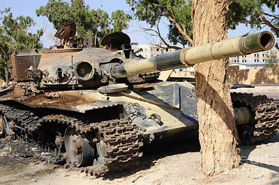 Photograph - A T-72 Tank Destroyed By Nato Forces by Andrew Chittock