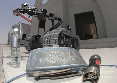 Improvised Explosive Device Photograph - A Talon 3b Robot Recovering A Stick by Stocktrek Images