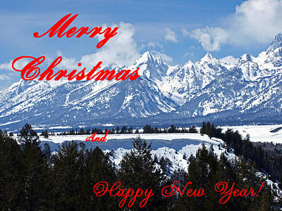 Photograph - A Teton Christmas by DeeLon Merritt