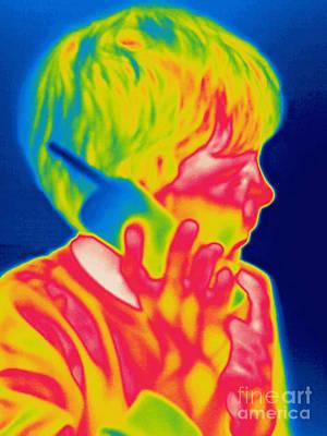 A Thermogram Of A Boy Talking Art Print