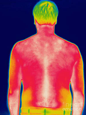 A Thermogram Of A Man Art Print