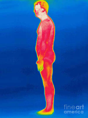 A Thermogram Of A Nude Man Profile Art Print