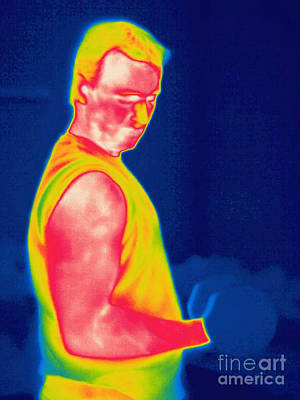 Bicep Photograph - A Thermogram Of A Weight Lifter by Ted Kinsman